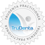 Approved TruDenta Practitioner Seal - TruDenta logo inside light gray seal