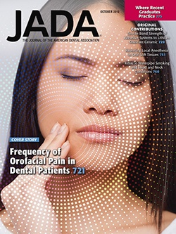 JADA Cover - Asian woman holding side of her mouth