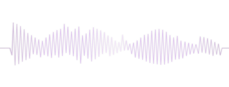 Illustration of lavender sound waves