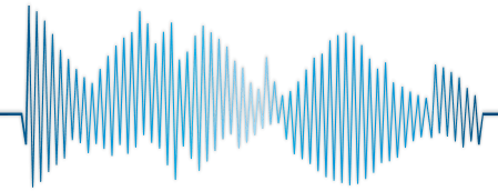 Illustration of blue sound waves