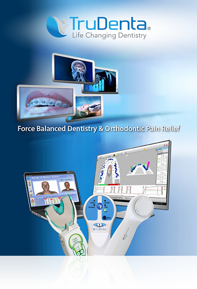 TruDenta Doctor Brochure Cover showing products and technology