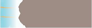 Auburn Dental Spa Logo - Brown sans-serif type with blue face icon to left