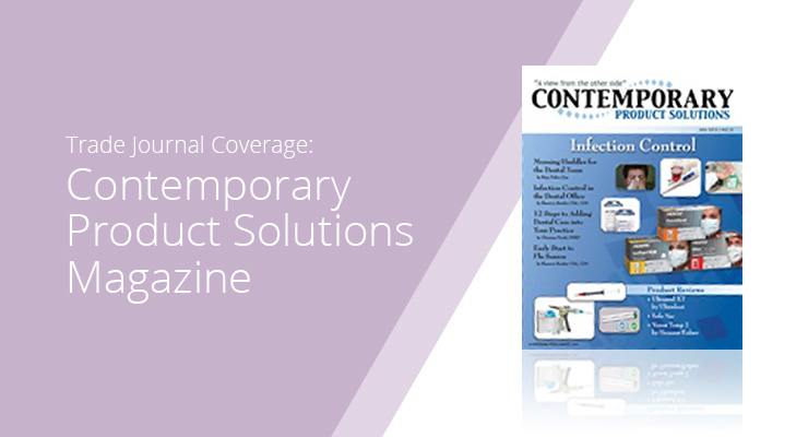 Graphic With Lavender Background And White Sans-serif Type Showcasing Contemporary Product Solutions Magazine Cover