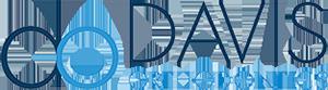 Davis Orthodontics Logo - Dark blue and bright blue sans-serif type