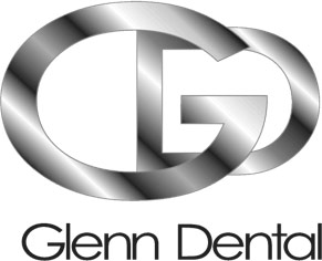 Glenn Dental Logo - Black sans-serif type with gray gradient GD initials on top