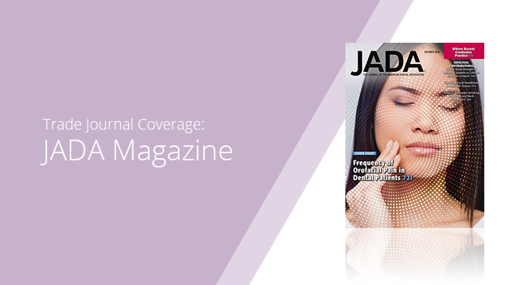 Graphic With Lavender Background And White Sans-serif Type Showcasing JADA Magazine Cover